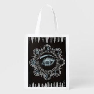Phases de l'oeil de lune sac d'épicerie