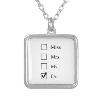 PhD-Geschenke für Frauen Versilberte Kette