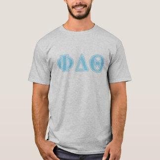 Phi-Deltatheta-Baby-Blau-Buchstaben T-Shirt
