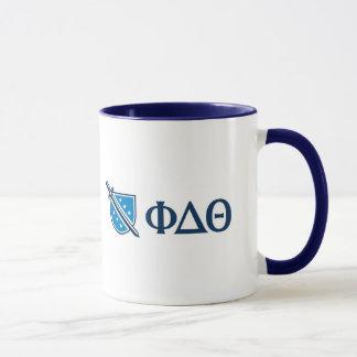 Phi-Deltatheta - blauer Grieche Lettters und Logo Tasse
