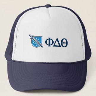 Phi-Deltatheta - blauer Grieche Lettters und Logo Truckerkappe
