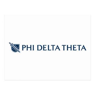 Phi-Deltatheta - blaues horizontales Logo 2 Postkarte