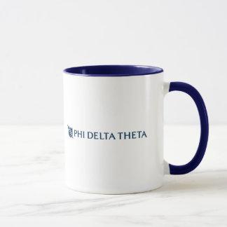 Phi-Deltatheta - blaues horizontales Logo 2 Tasse