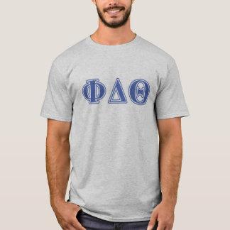 Phi-Deltatheta-Königsblau-Buchstaben T-Shirt