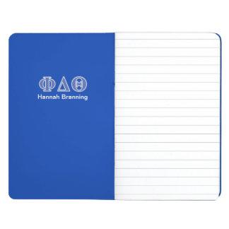 Phi-Deltatheta-Königsblau-Buchstaben Taschennotizbuch