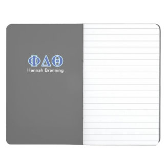 Phi-Deltatheta-Königsblau-und Baby-Blau-Buchstaben Taschennotizbuch