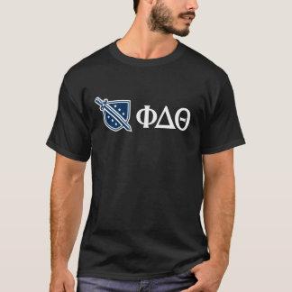 Phi-Deltatheta - weißer Grieche Lettters und Logo T-Shirt
