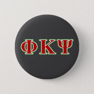 Phi-Kappa P/in rote und grüne Buchstaben Runder Button 5,7 Cm