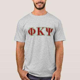 Phi-Kappa P/in rote und grüne Buchstaben T-Shirt