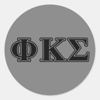 Phi-Kappa-Sigma-gotische Schriften 2 Runder Aufkleber