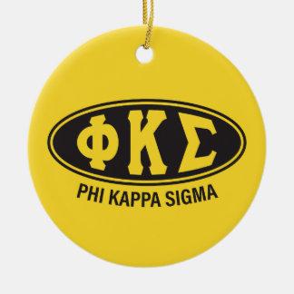 Phi-Kappa-Sigma   Vintag Keramik Ornament