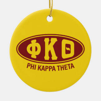 Phi-Kappa-Theta | Vintag Rundes Keramik Ornament