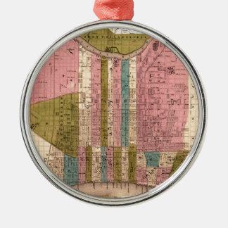 philadelphia1838 rundes silberfarbenes ornament