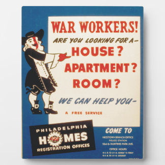 Philadelphia kann Kriegs-Arbeitskräften helfen, Fotoplatte