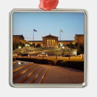 Philadelphia-Kunstmuseum-Verzierung Quadratisches Silberfarbenes Ornament
