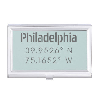 Philadelphia Longitude Latitude Card Holder