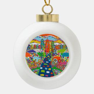 Philadelphia, PA-Weihnachtsverzierung Keramik Kugel-Ornament