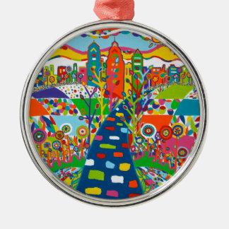 Philadelphia, PA-Weihnachtsverzierung Rundes Silberfarbenes Ornament