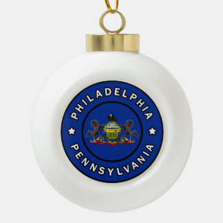 Philadelphia Pennsylvania Keramik Kugel-Ornament