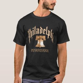 Philadelphia-Schwarzes T-Shirt