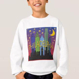 Philadelphia-Skyline-Nachtleben Sweatshirt
