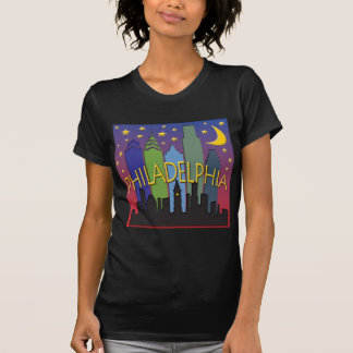 Philadelphia-Skyline-Nachtleben T-Shirt
