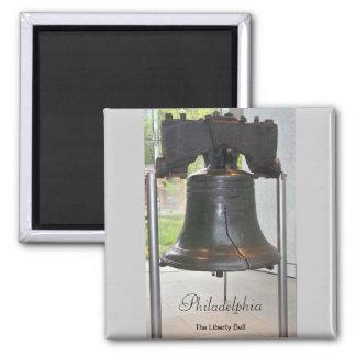 Philadelphias großer Bell-Quadrat-Magnet Quadratischer Magnet