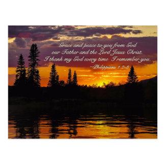 Philippians-1:2 - 3 zieren und Frieden zu Ihnen, Postkarte