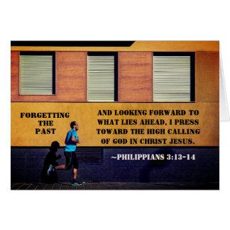 Philippians-3:13 - 14 die Vergangenheit vergessend Karte