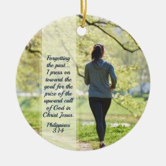 Philippians-3:13 - Presse 14 in Richtung zum hohen Keramik Ornament