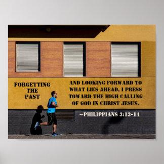 Philippians-3:13 - Presse 14 in Richtung zum hohen Poster