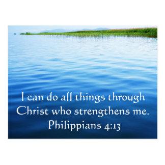 Philippians-4:13, das Bibelvers inspiriert Postkarte