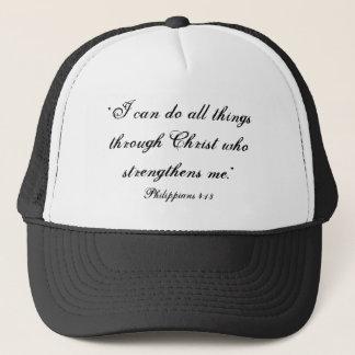 Philippians-4:13 Fernlastfahrer-Hut Baseballkappe