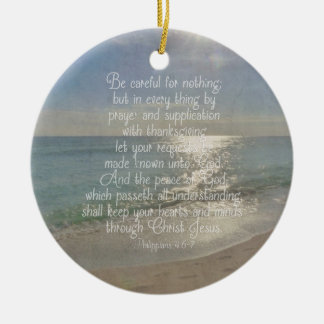Philippians-4:13 Friedensbibel-Vers-Strand Keramik Ornament
