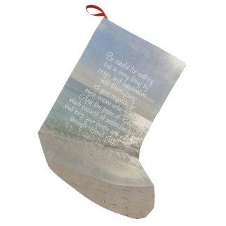 Philippians-4:13 Friedensbibel-Vers-Strand Kleiner Weihnachtsstrumpf