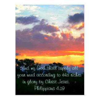 Philippians-4:19 Postkarte