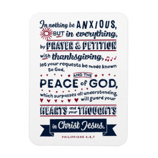 Philippians-4:6, 7 magnet