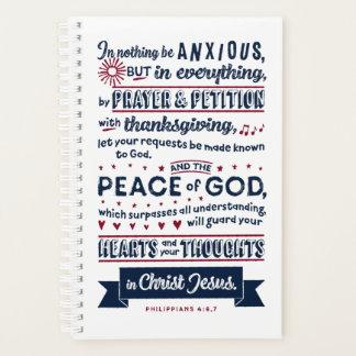 Philippians-4:6, 7 planer