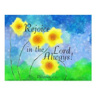 Philippians, freuen sich im Lord, Sonnenblumen Postkarte