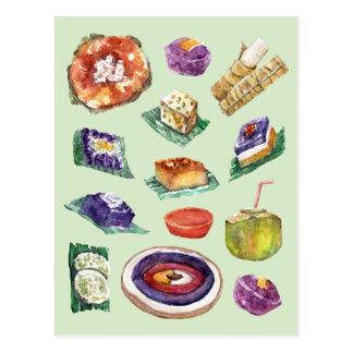 Philippinische Nahrungsmittelzartheit im Aquarell Postkarte