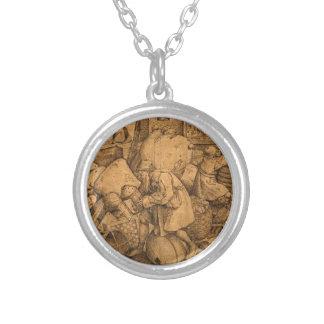 Philister durch Pieter Bruegel das Älteste Halskette Mit Rundem Anhänger
