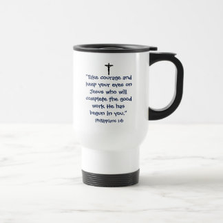 Phillipians 1:6 Reise-Tasse Edelstahl Thermotasse