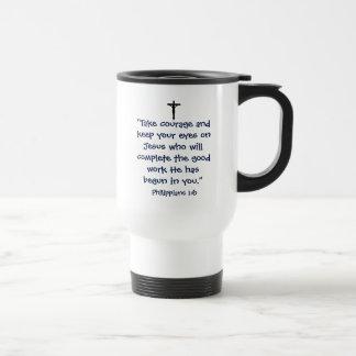 Phillipians 1:6 Reise-Tasse Reisebecher