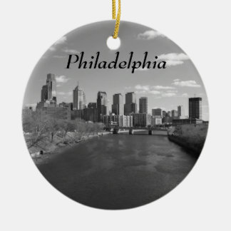 Philly b/w rundes keramik ornament