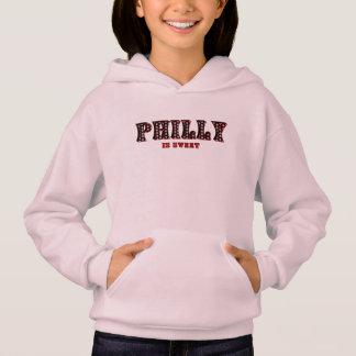 Philly ist der Hoodie des süßes rosa Kindes