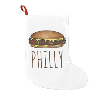 Philly Philadelphia Käse-Steak-Sandwich-Strumpf Kleine Weihnachtsstrümpfe