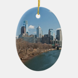 Philly Winter Ovales Keramik Ornament