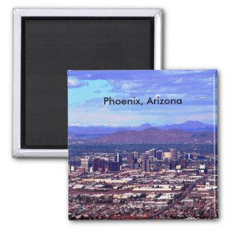 Phoenix, Arizona Skycape in der Tageszeit Quadratischer Magnet