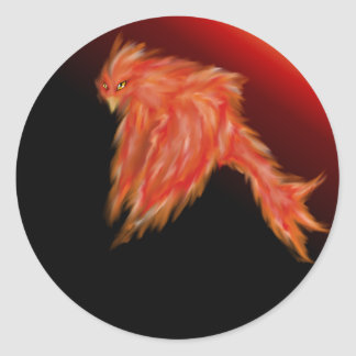 Phoenix-Aufkleber Runder Aufkleber