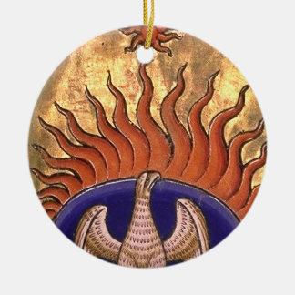 Phoenix, das von der Asche steigt Keramik Ornament
